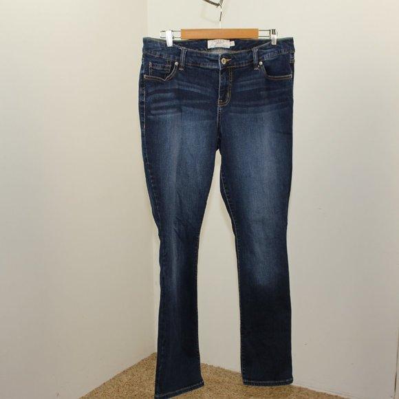 Torrid Barely Boot Jeans Whiskering 14R F32